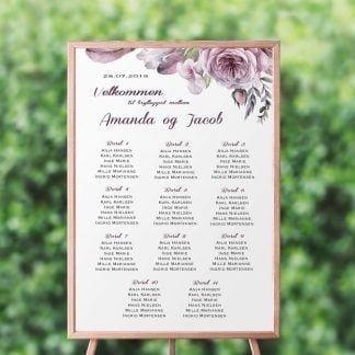 Bordplan til bryllup