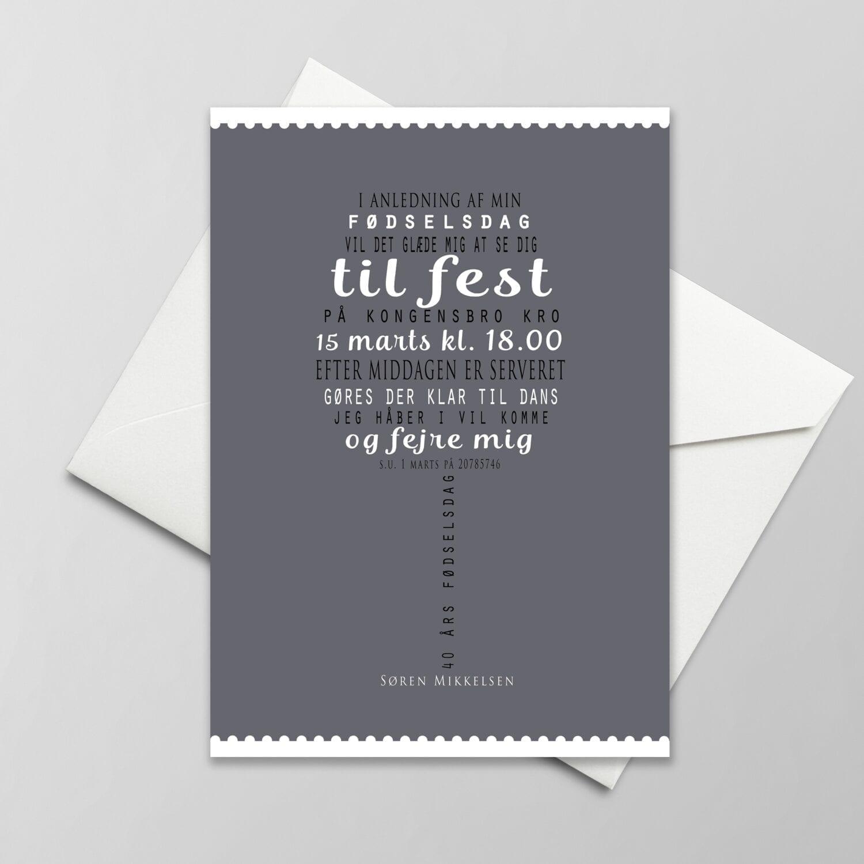 invitation til fødselsdag