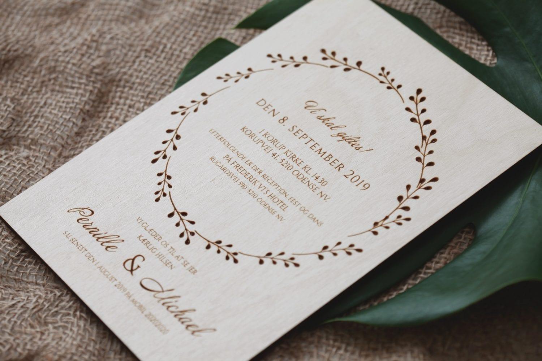 Krans træ invitation