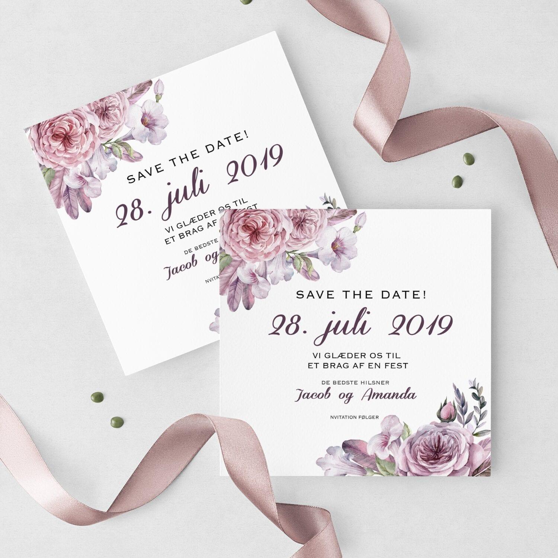 save the date kort boheme stil