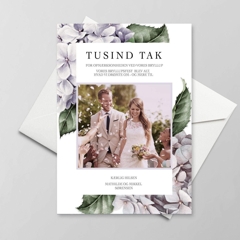 Lavender Hydrangea - takkekort bryllup