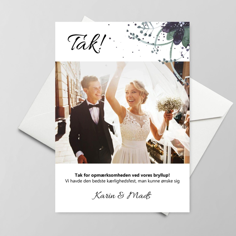 Takkekort bryllup - oh so simple
