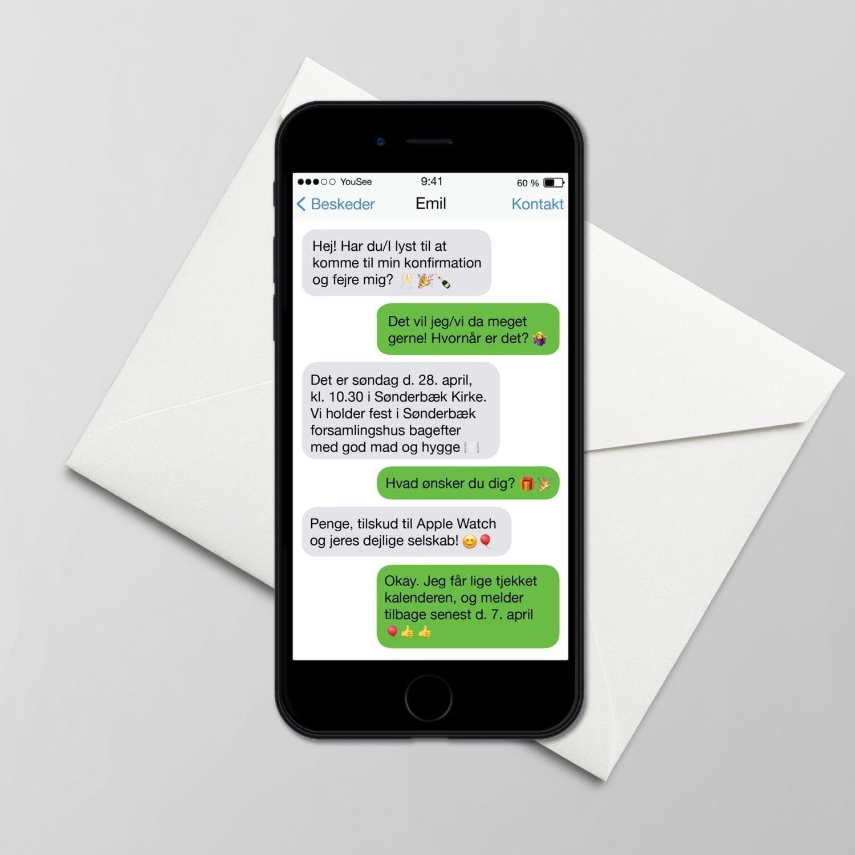 iphone invitationer