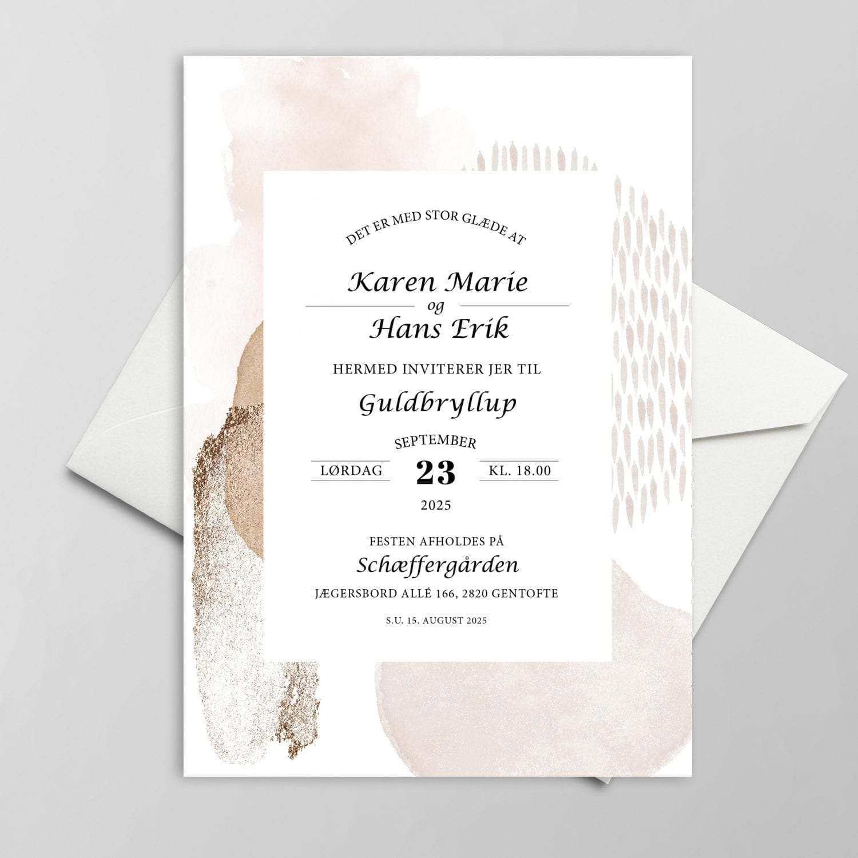 Guldbryllup invitation jubilæum