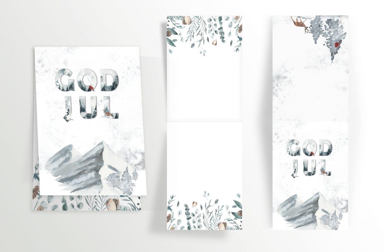 god jul julekort med hjort