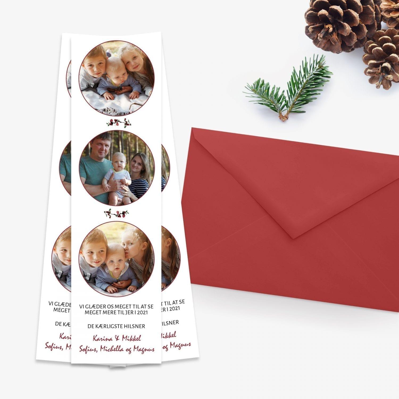 fotostribe med julegrene julekort