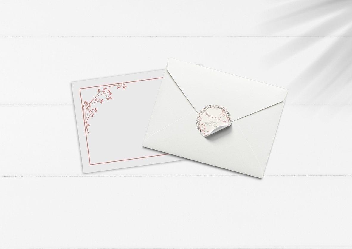 kuvert pakke med stickers mus agnes