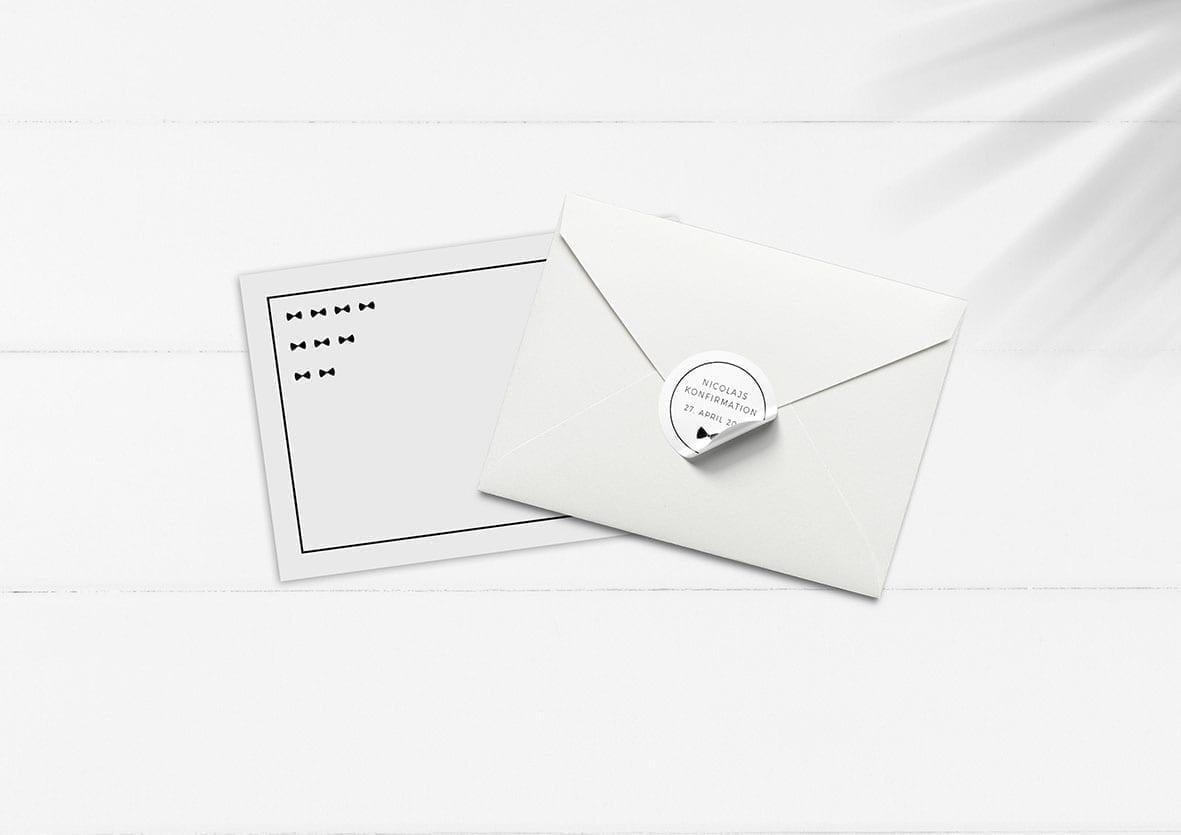kuvert pakke med stickers box it