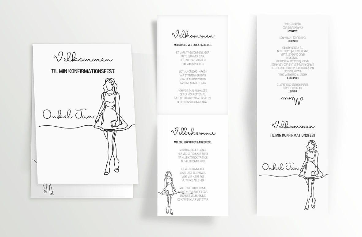 Girly Lines - Foldet A6 - indersider