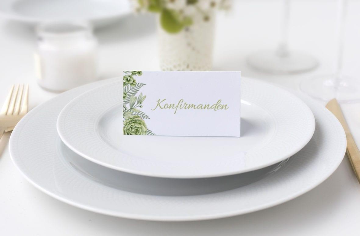 Grøn bordkort go green