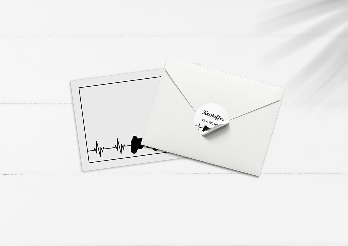 kuvert pakke med stickers playstation gaming
