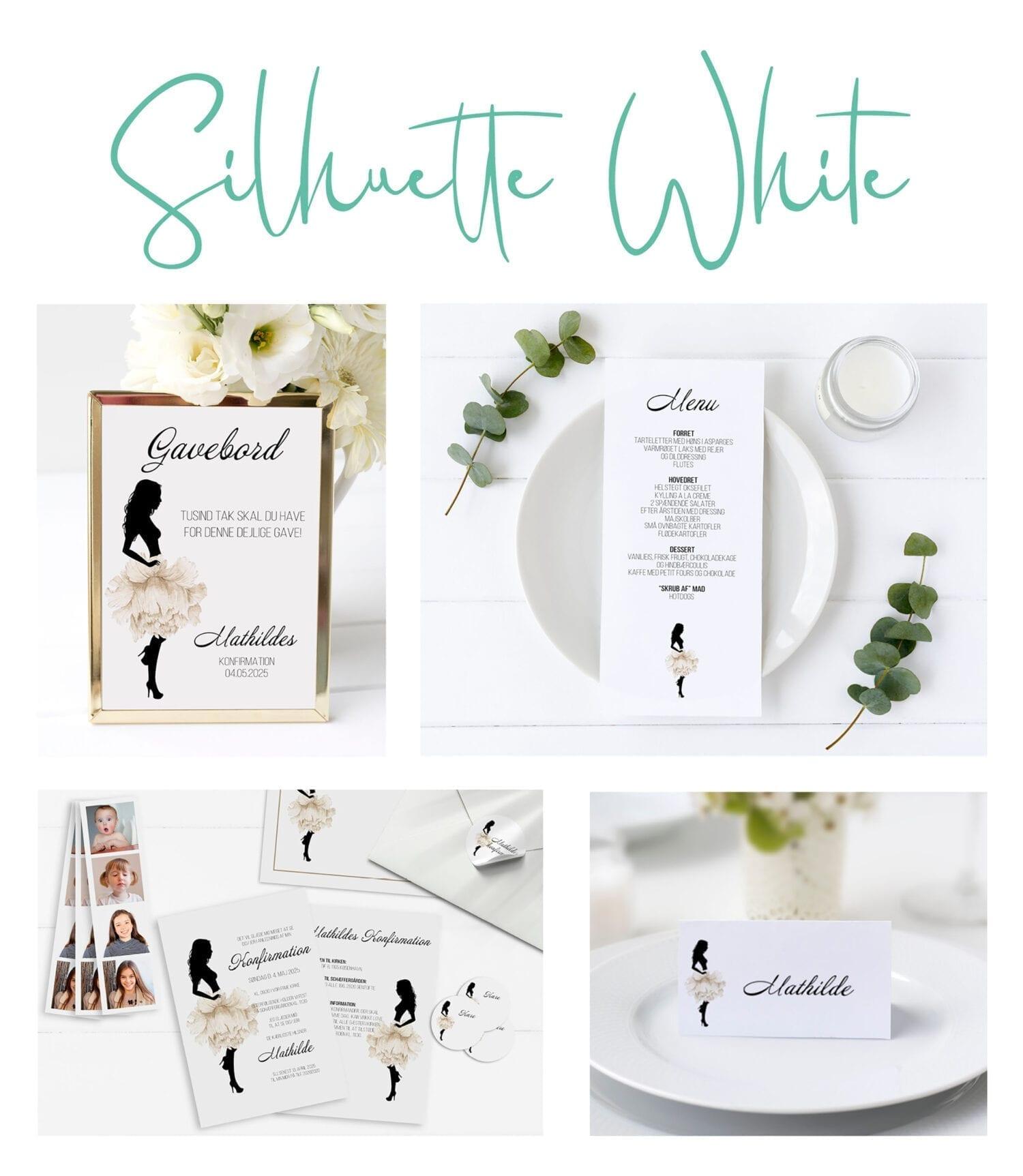 Silhuette White