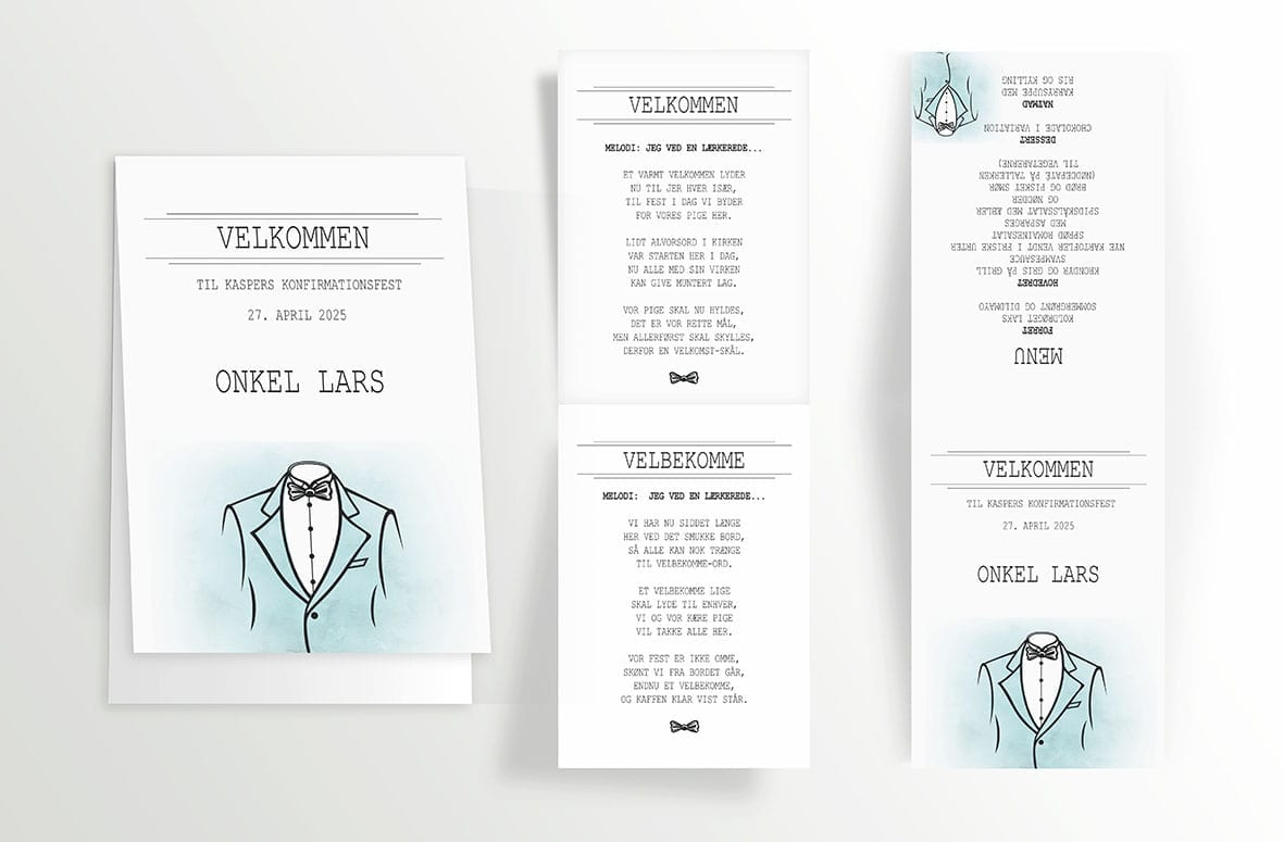 Suit - Foldet A6 - indersider