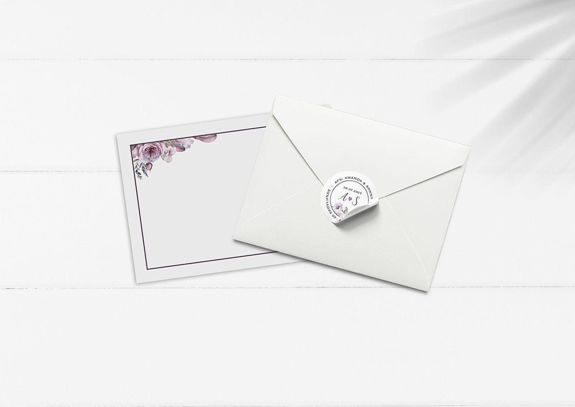 Kuvert med blomster
