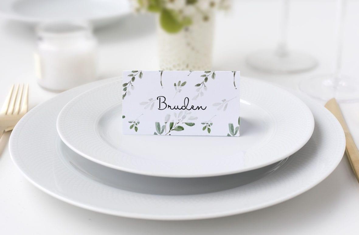 Bordkort med blade