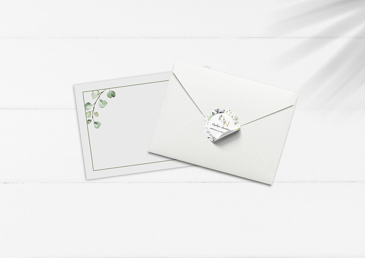 grøn kuvert