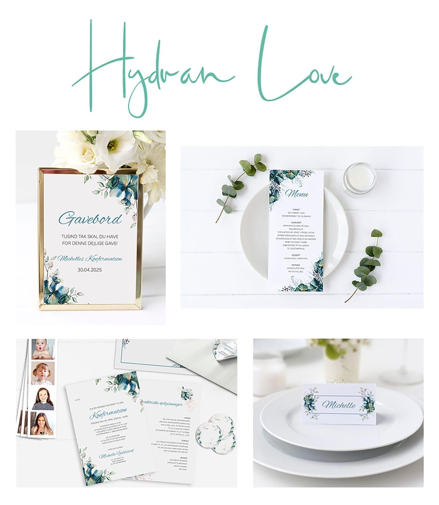 Hydran love konfirmation kortserie