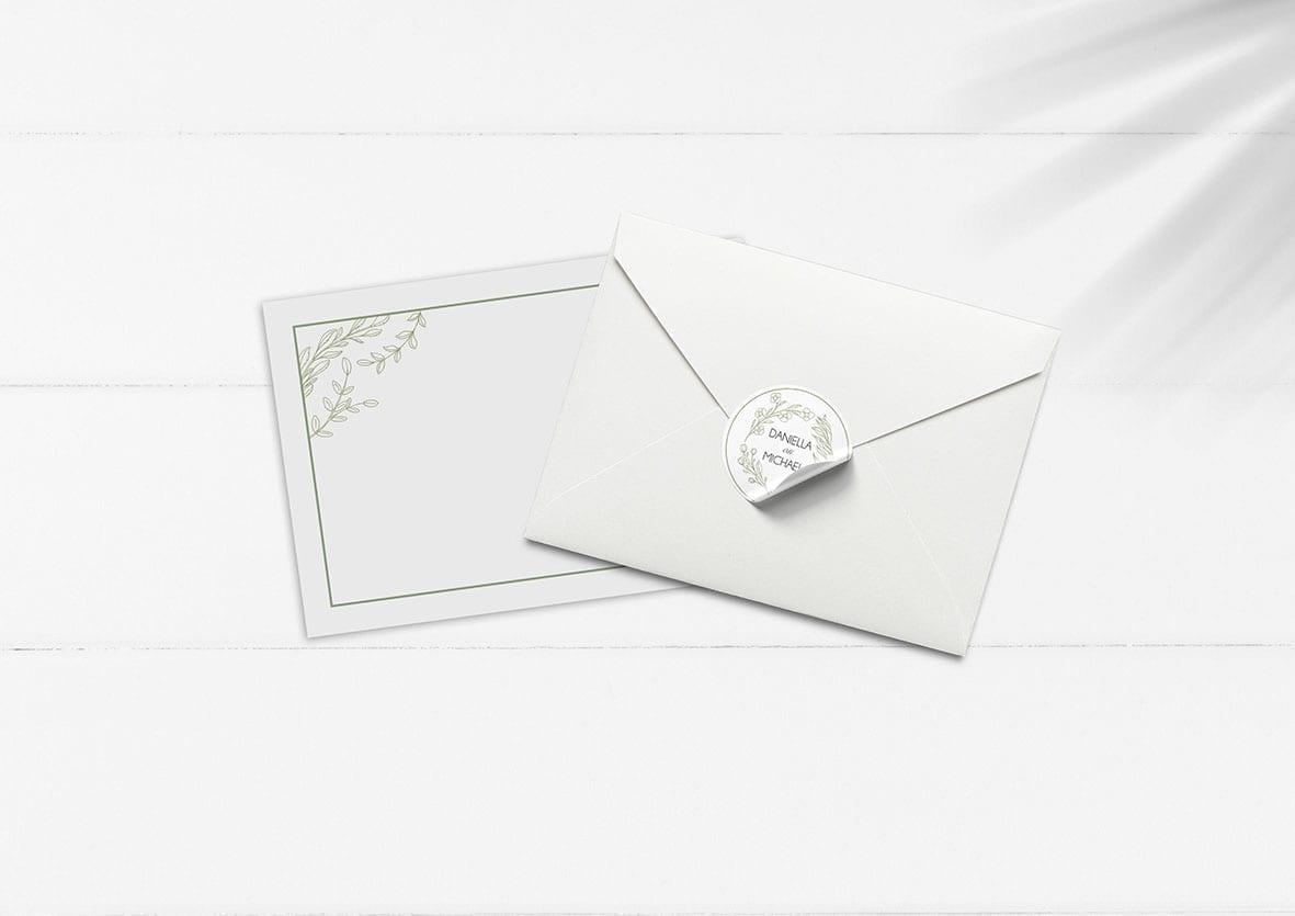 personlig kuvert