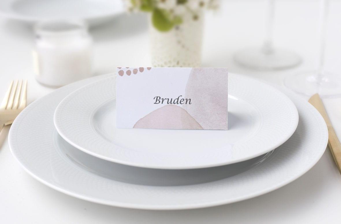 grafisk bordkort