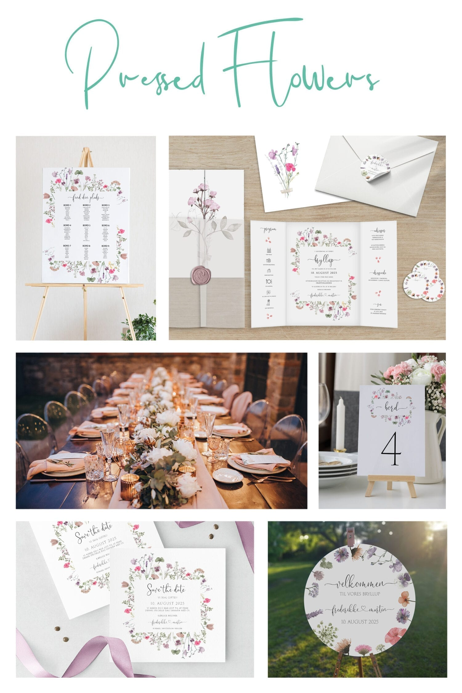 Pressed Flowers kortserie - Se helt udvalget