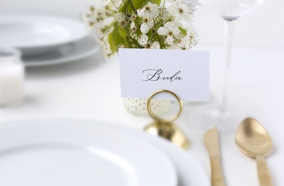 enkelt bordkort