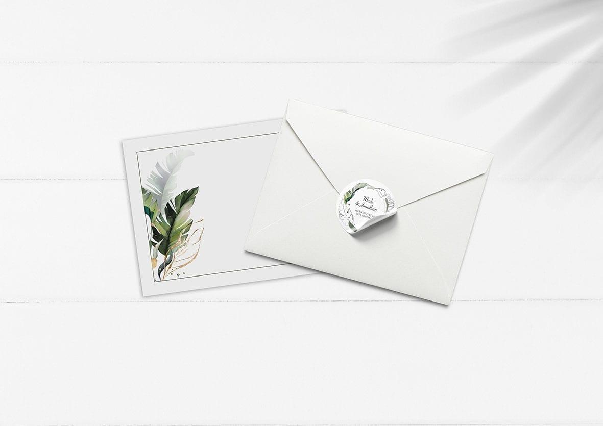 bryllupsinvitation, kuvert
