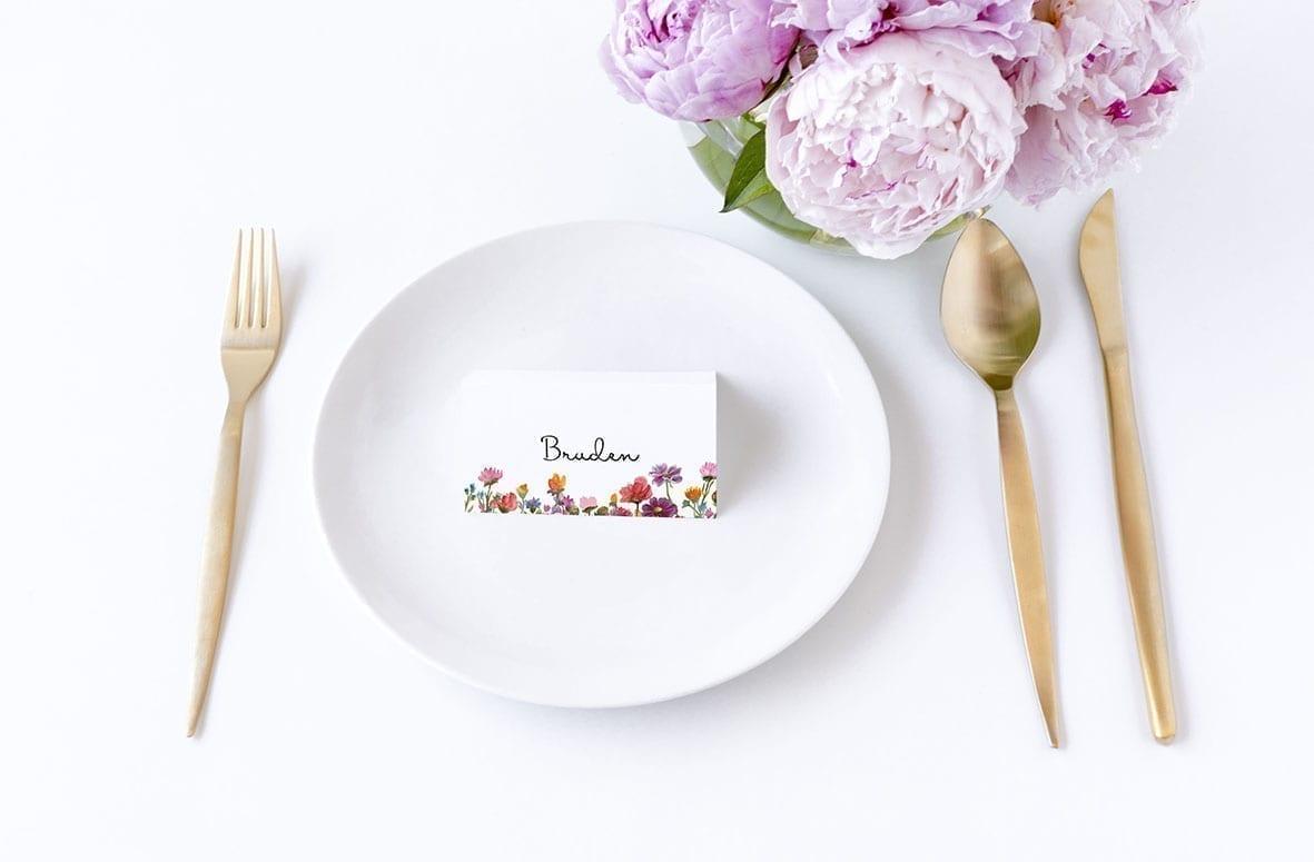 bordkort til fest