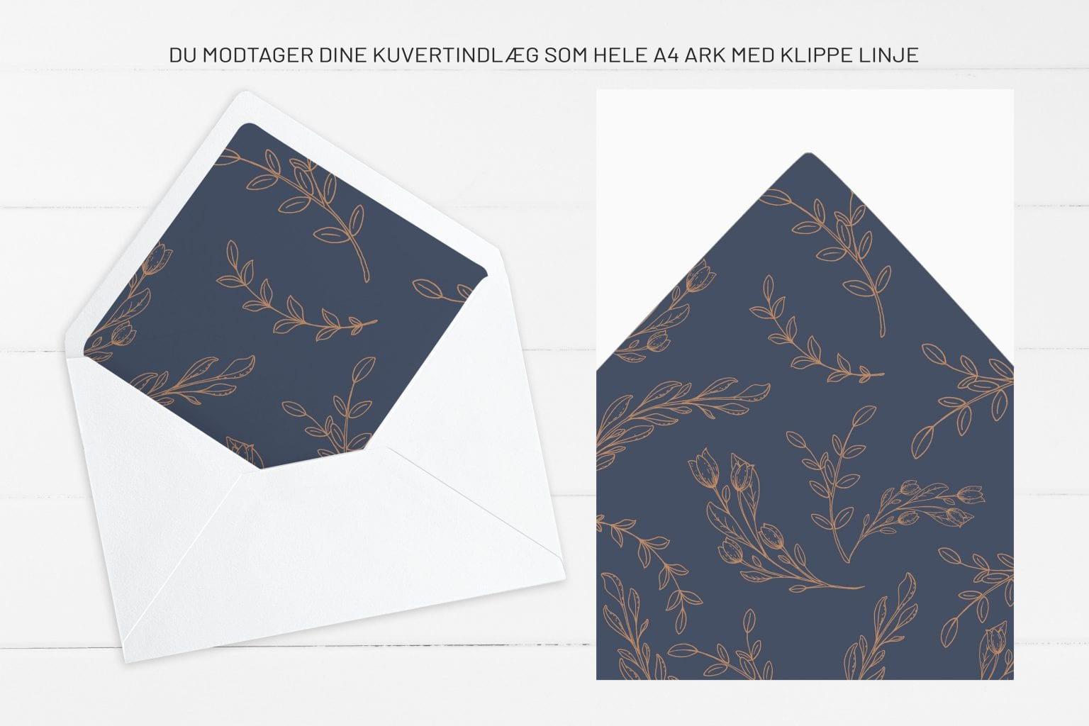 Branch Bronze, kuvertindlæg, bryllup
