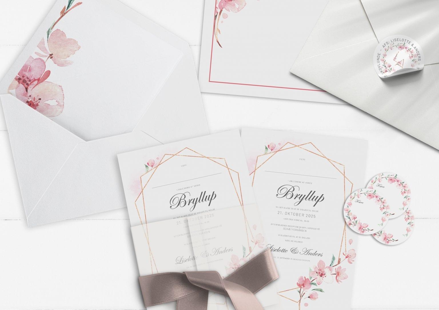 Cherry Blossom, Invitation, bryllup