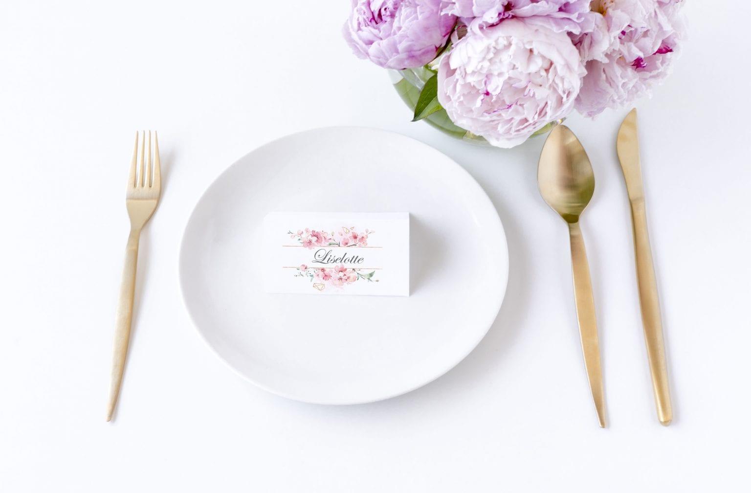 Cherry Blossom, bordkort, bryllup
