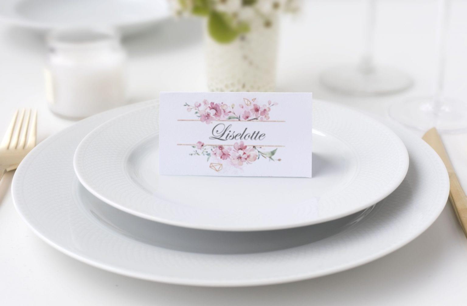 Cherry Charm, bordkort, konfirmation