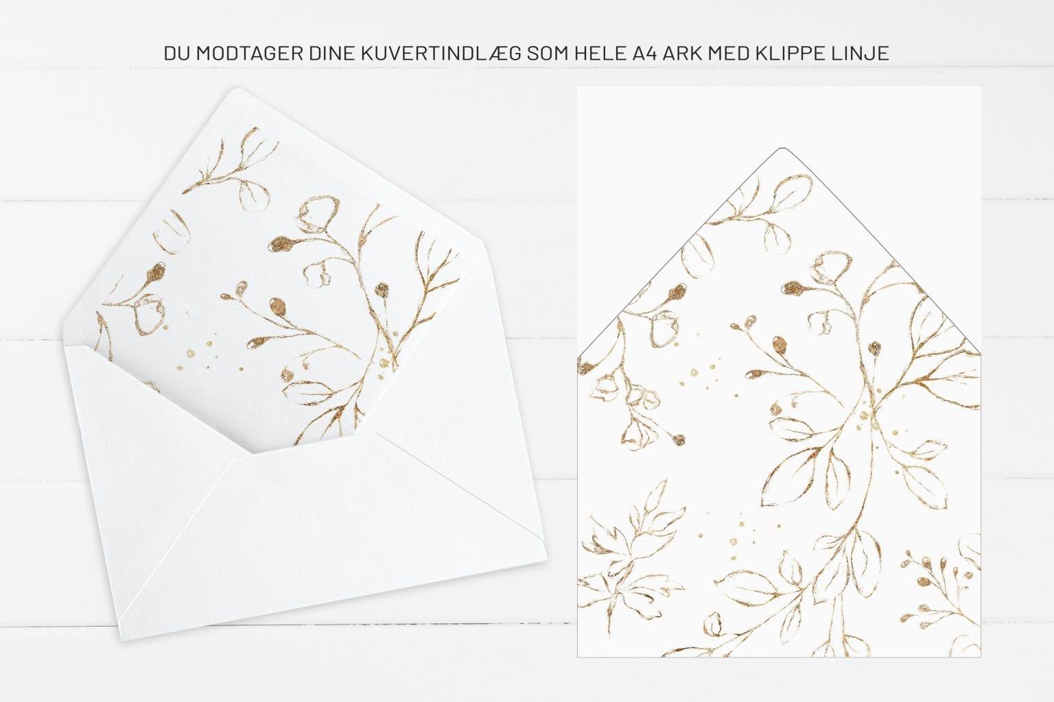 Dark Green, kuvertindlæg, bryllup