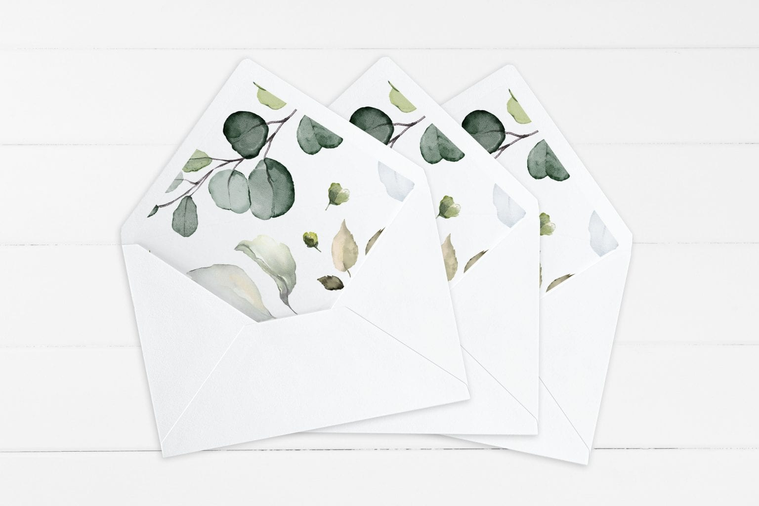 Dusty Green, kuvertindlæg, bryllup