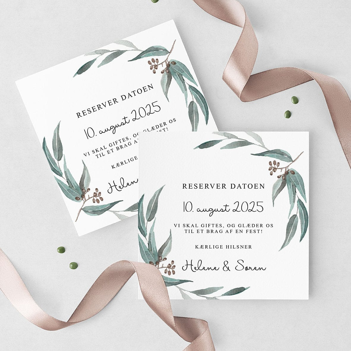Save The Date Eucalyptus Delight