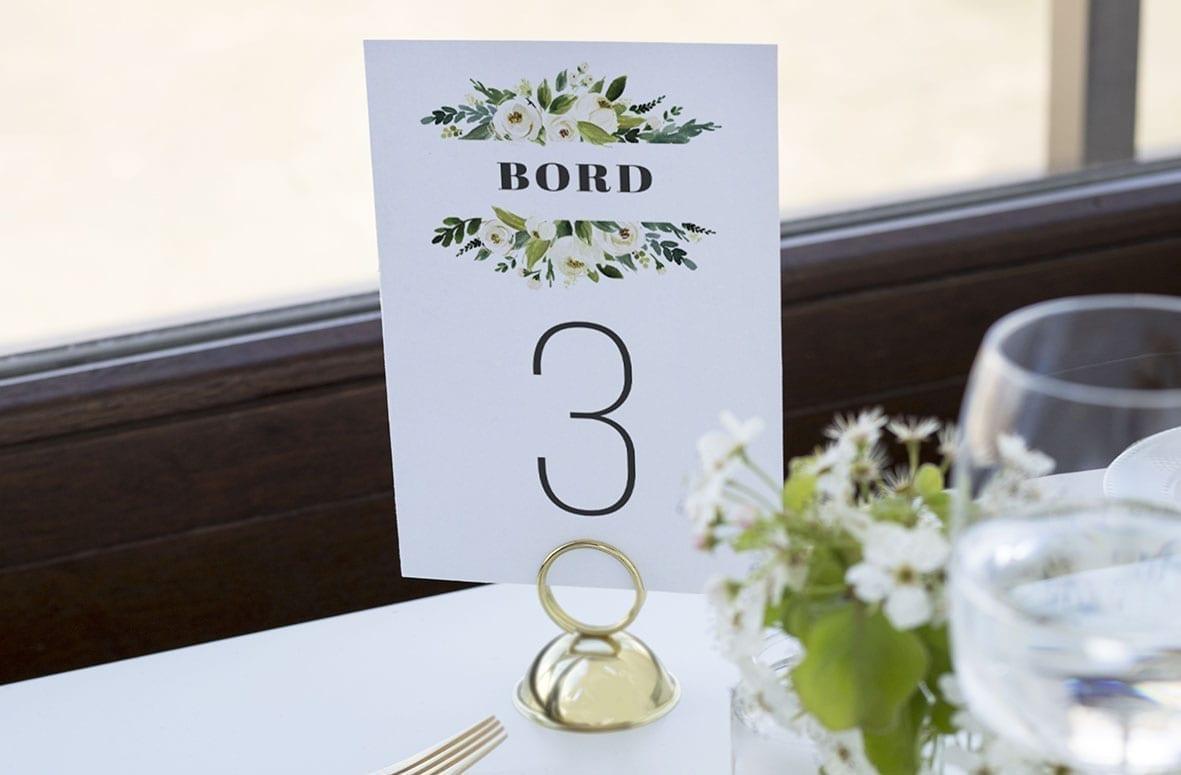 bordnummer, Go Traditional, fest, pynt opdækning, bordopdækning
