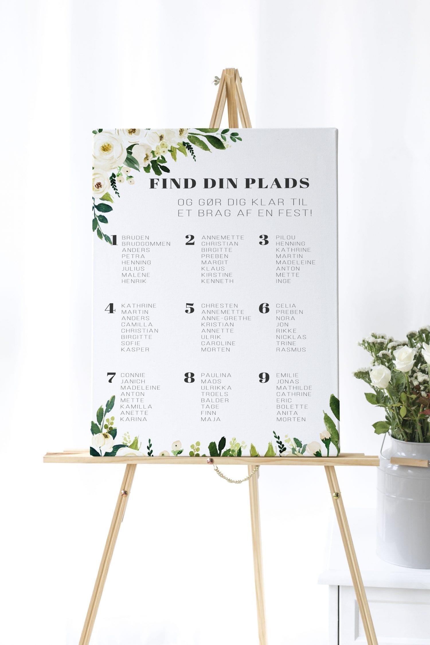 Go Traditional, bordplan, bryllup