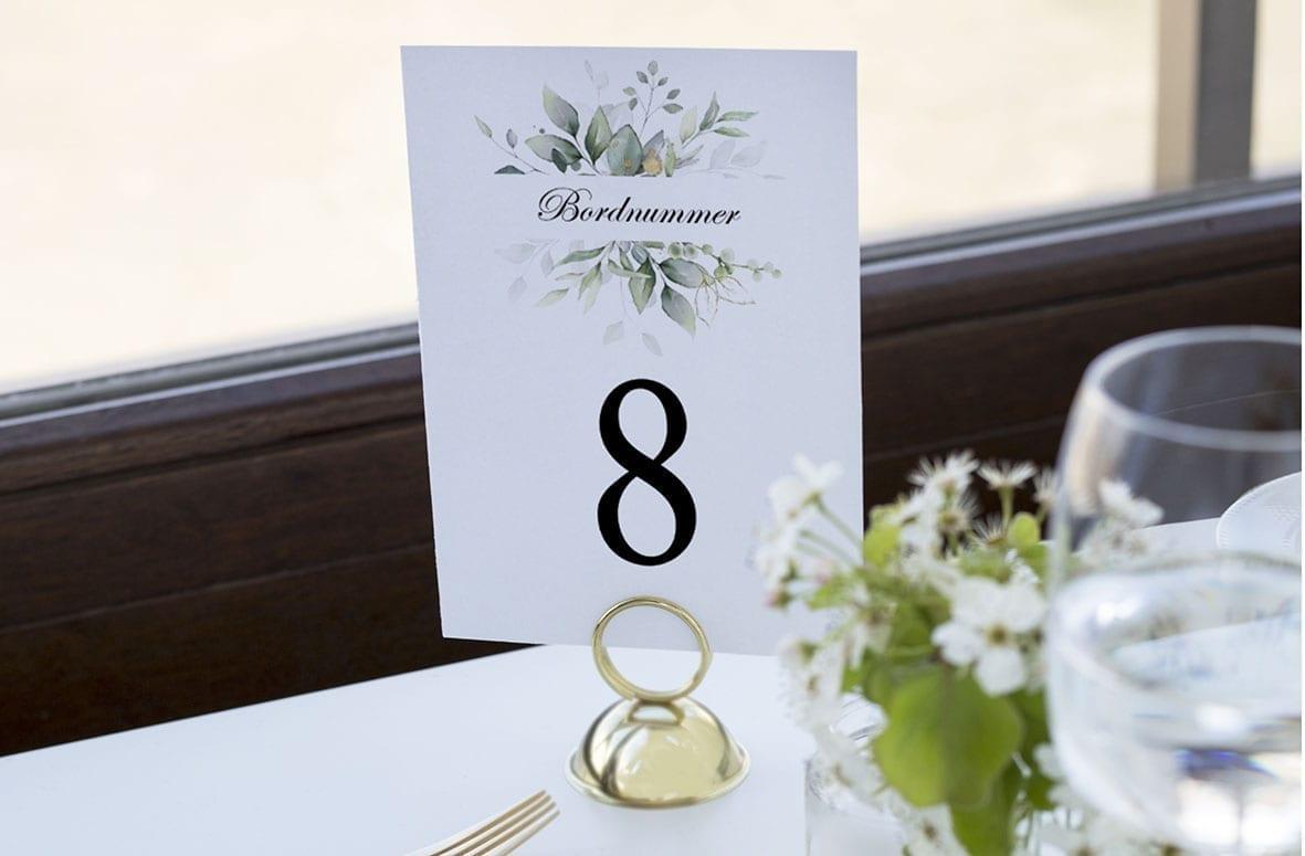 bordnummer, gold leaf, fest, pynt opdækning, bordopdækning