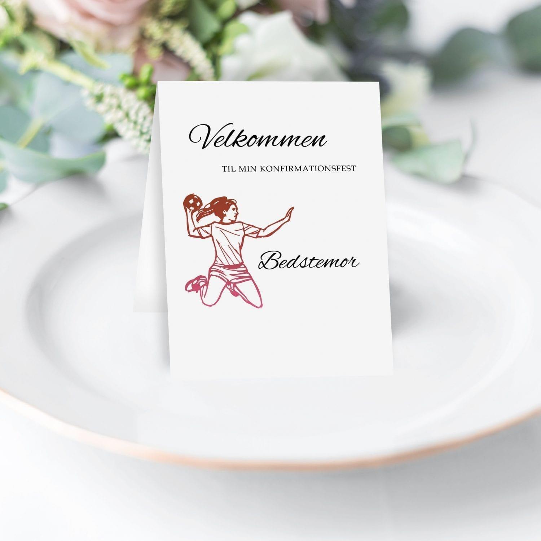Kombi bordkort og menu samme med velkommmen og velbekommesange