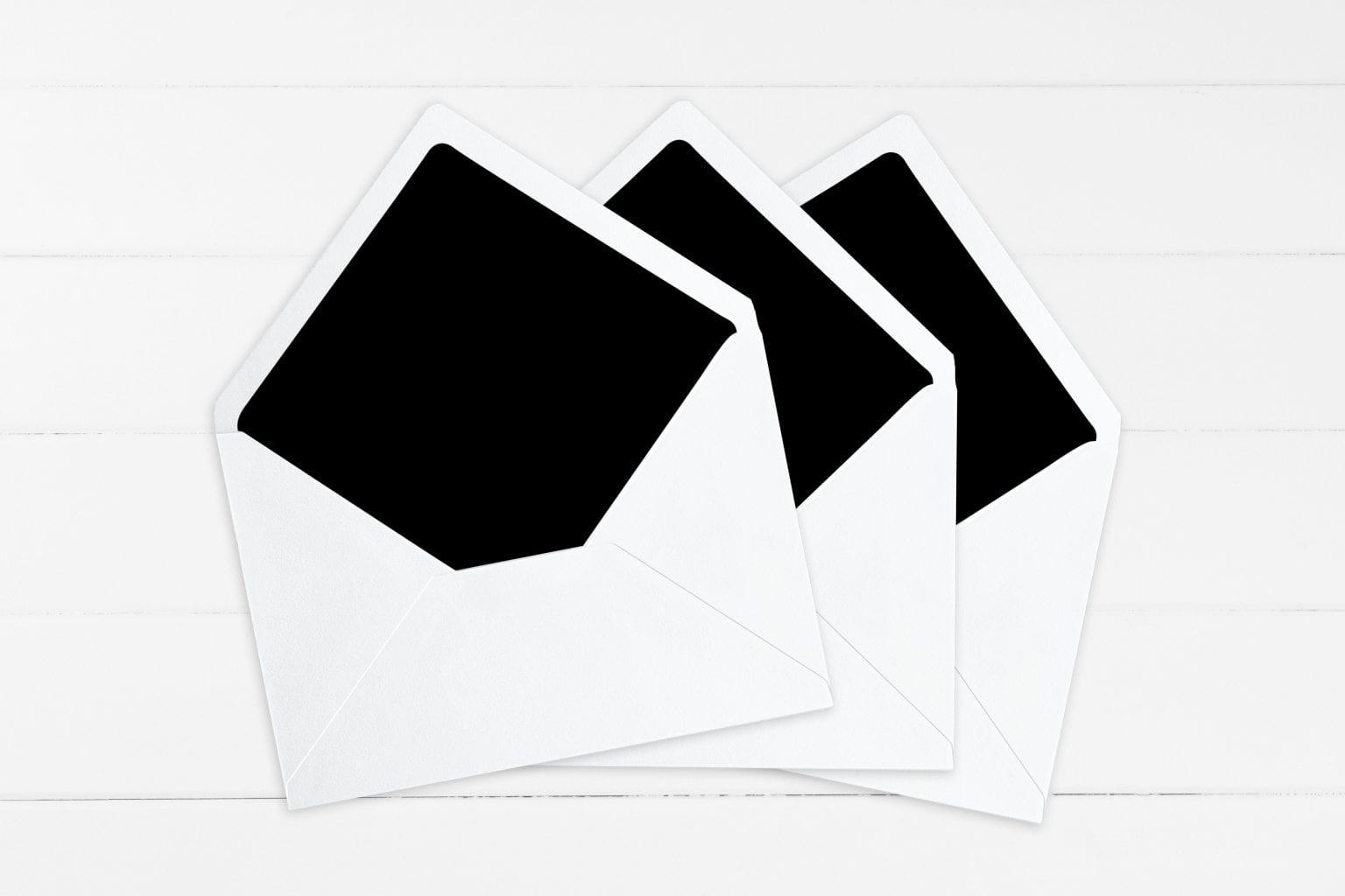 Kaligrafitti, kuvertindlæg, bryllup