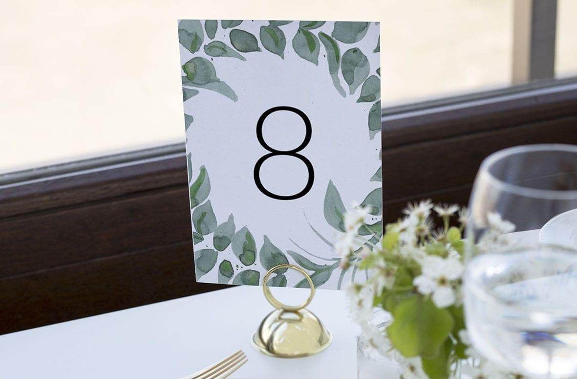 bordnummer, leaf me, fest, pynt opdækning, bordopdækning