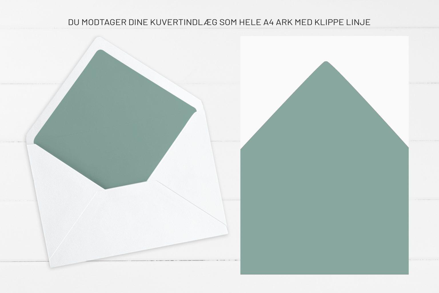 Leaf Me, kuvertindlæg, bryllup