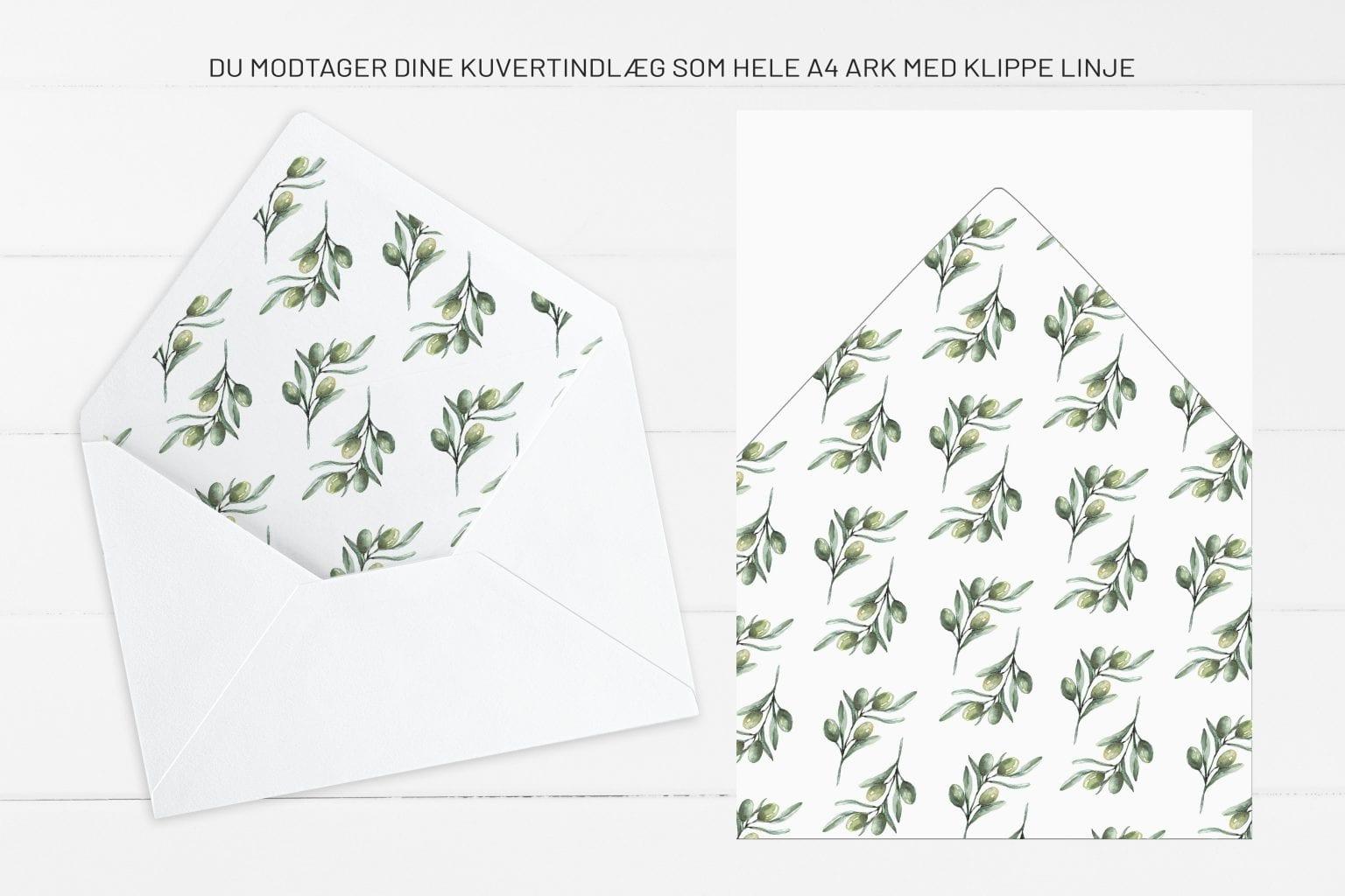 Olive Garden, kuvertindlæg, bryllup