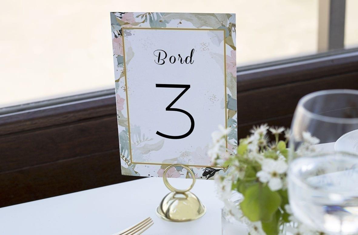 bordnummer, pale blue, fest, pynt opdækning, bordopdækning