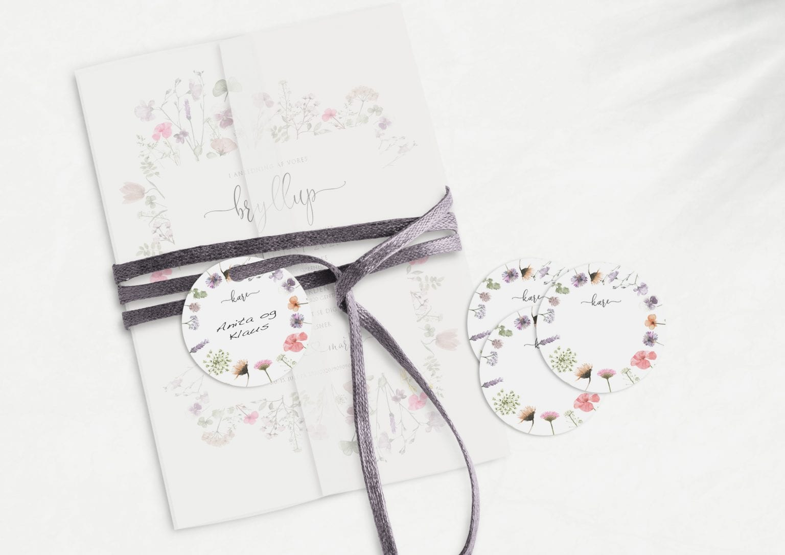 Pressed Flowers, manillamærke, bryllup