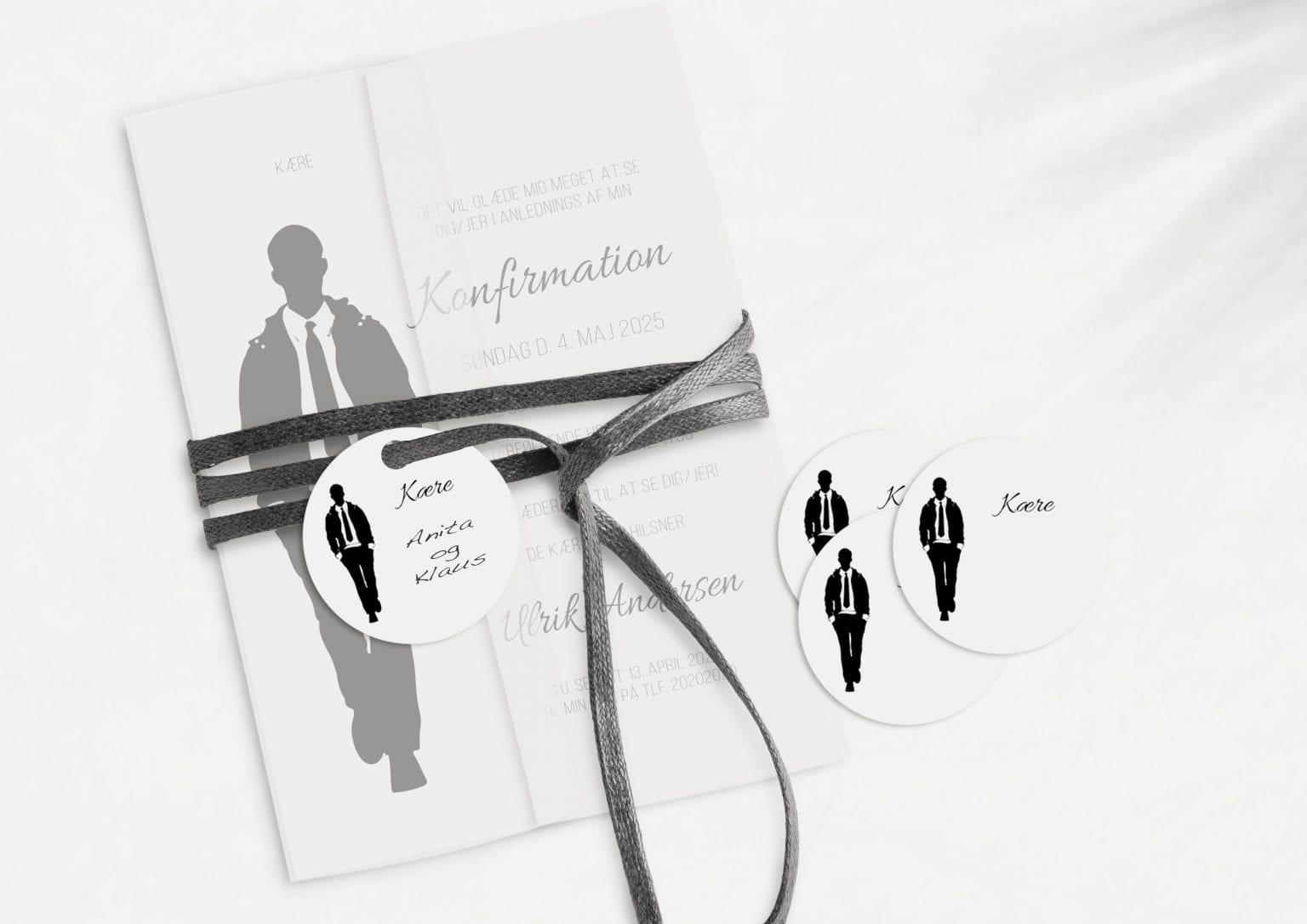 Silhuette Suit, manillamærke, konfirmation