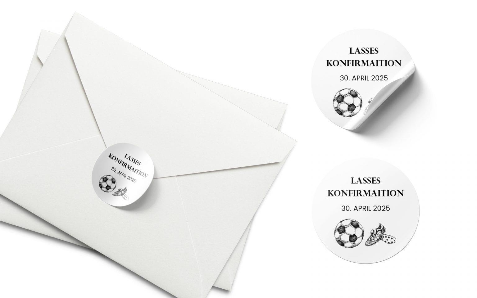 Soccer Dreams, stickers, konfirmation