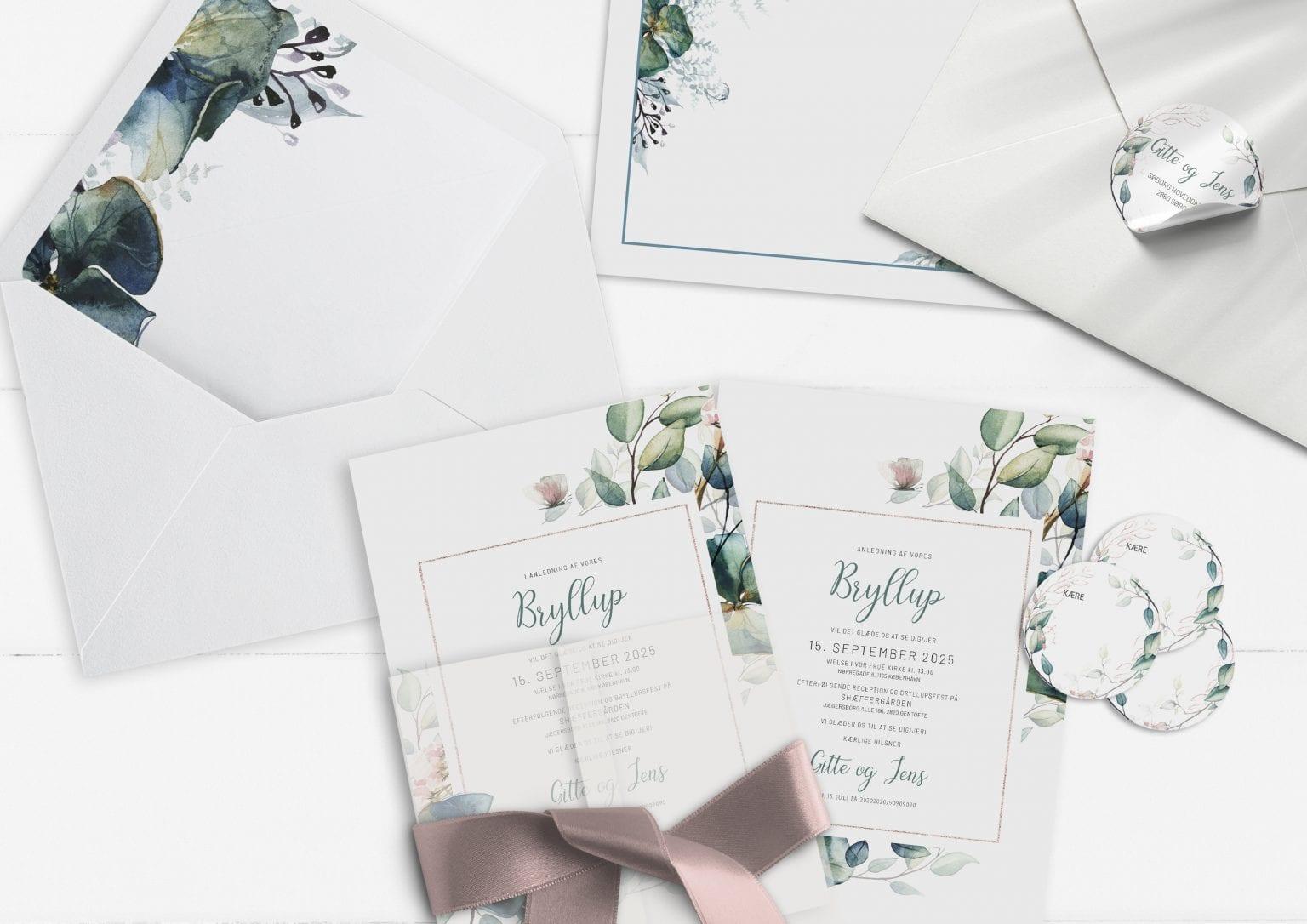 Teal Vibrant, Invitation, bryllup
