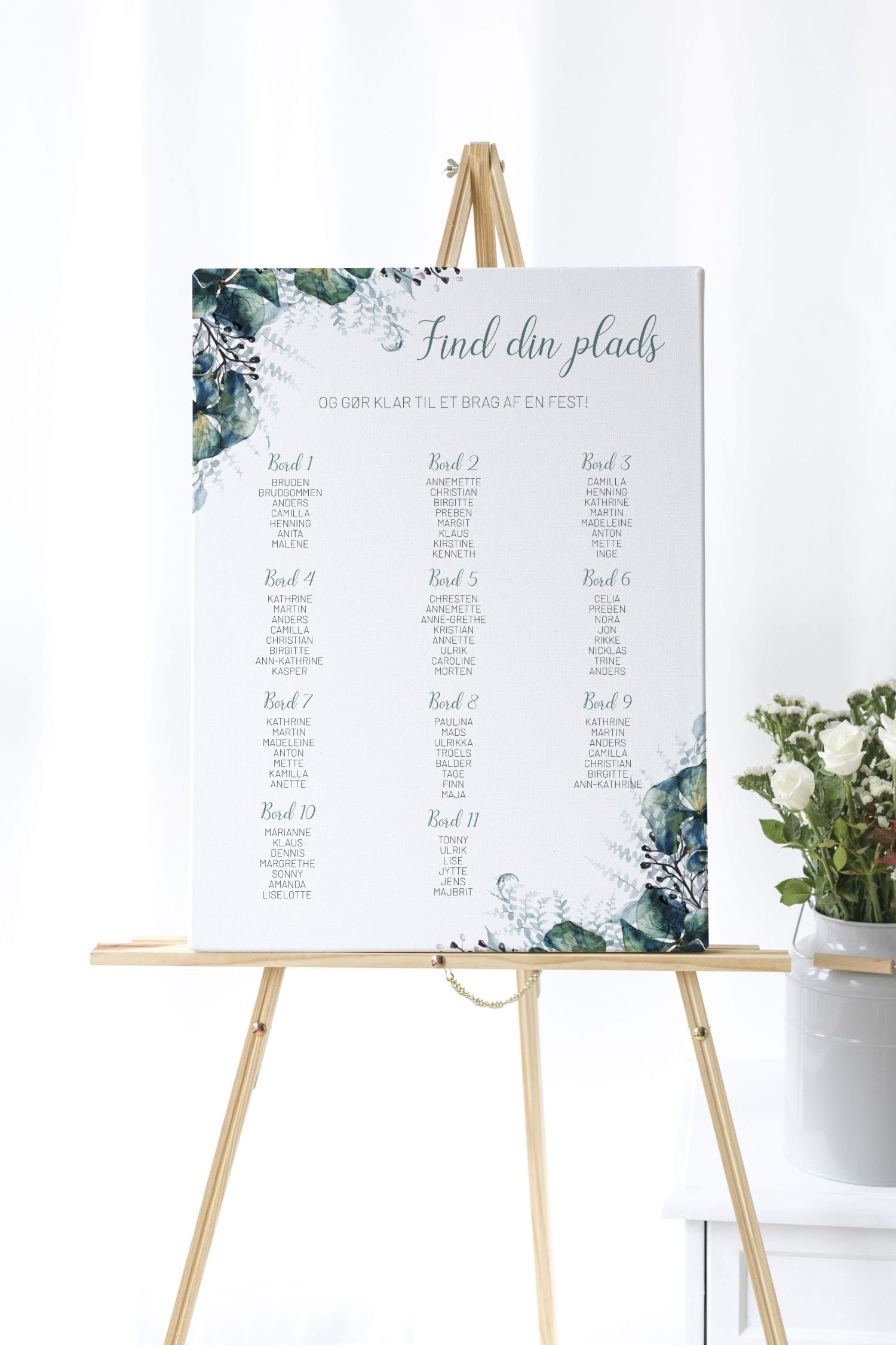 Teal Vibrant, bordplan, bryllup