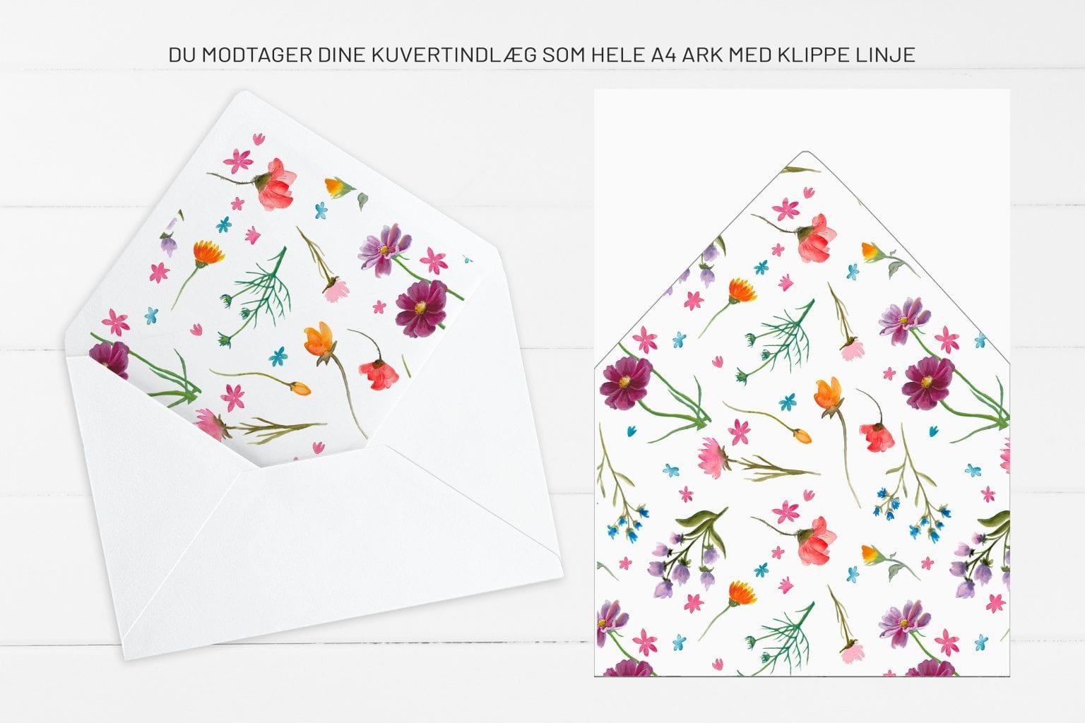 Wild Flowers, kuvertindlæg, bryllup